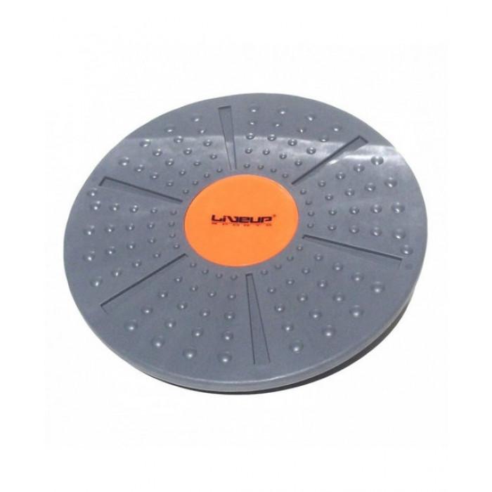 Баланс-борд LiveUp Balance Board 39x8-10 см (LS3151A) Gray/Orange